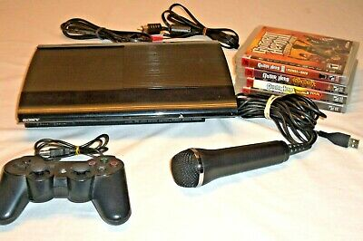 Sony Playstation 3 Super Slim 500GB Black Console w/ games
