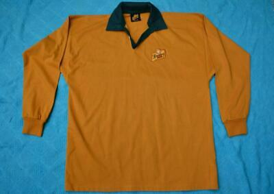 BUNDABERG RUM Size L-XL.Green & Gold Rugby Style Jersey. L/Sleeve. AS NEW. Bundy