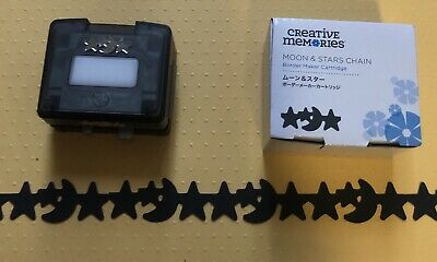 "Cartridge For Creative Memories Border Maker Moon and stars Chain"""" NEW!!"