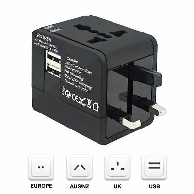 3X(Travel Adapter, Worldwide All in One Travel Socket Universal Plug Conver8F1)