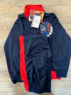 Spiderman tracksuit 8 BOY MICROFLEECE LINED polyester Marvel NAVY RED SPIDERSENS