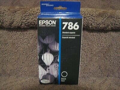 Epson 786 Black Ink Cartridge Genuine OEM NEW T786120