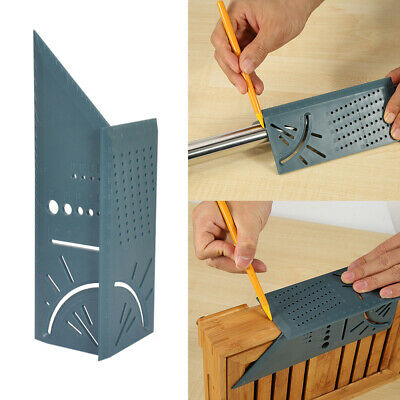 3D Rule Square Layout Miter 45° 90° Metric Rule with Pen for Woodworking F5E4