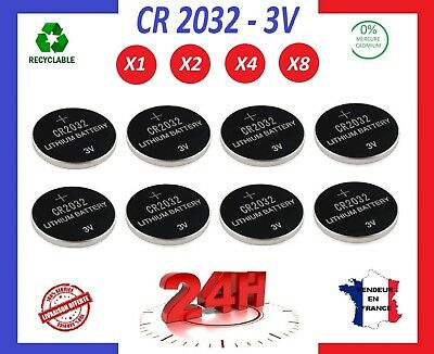 Cr 2032 ⭐ Battery Piles Bouton Lithium / 3V Telecommande Montre Pc Calculatrice