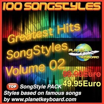 100 Styles pour Yamaha Tyros PSR-S SX GREATEST HITS SONGSTYLES VOL02 Song Styles