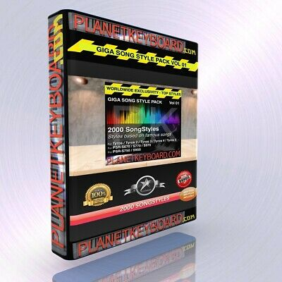 Styles pour Yamaha Genos PSR-SX900 GIGA PACK VOL 01 2000 SONGSTYLES SONG STYLES
