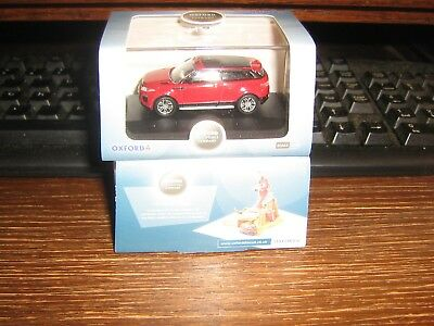 OXFORD DIE-CAST - RANGE ROVER EVOQUE COUPE (FACE LIFT)  in FIRENZE RED  - 1:76