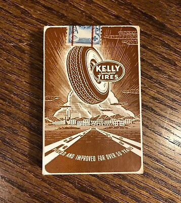 Vintage Sealed Kelly Springfield Tire Playing Cards Advertising US MINT Antique