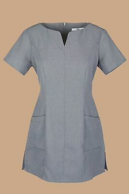 Simon Jersey Women's Side Pocket Beauty Tunic Spa Hair Salon Uniform