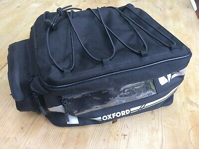 Oxford motorbike tail bag F1 18L black pannier bike