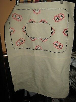 Vintage MISSION ARTS & CRAFTS Style Embroidered Pillow Cover FINISHED