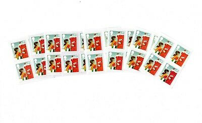 50 1st Class Christmas Unfranked GB Stamps (Peelable)