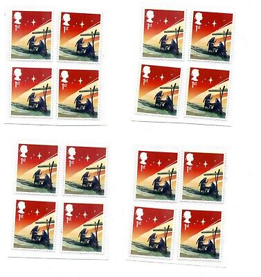 """50 1st Class christmas """"A"""" grade Unfranked GB Stamps (Peelable)"""
