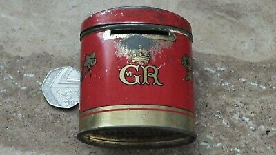 Old Coronation Souvenir  6 x Oxo Cube Tin May 12th 1937 Post Box  Money Box GR