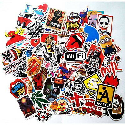 100 Random Vinyl Decal Graffiti Sticker Bomb Laptop Waterproof Car Skateboard UK