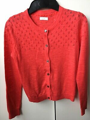 Girl's Coral-Red Summer Cardigan from NEXT age 9