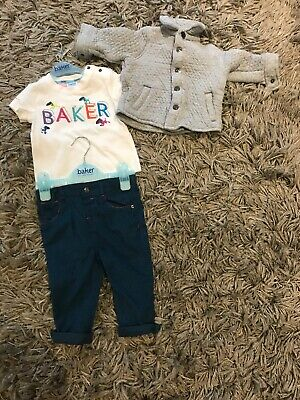 Clothing, Shoes & Accessories Ted Baker Baby Boys Dungaree Jeans Age Size 3-6 Months Vgc