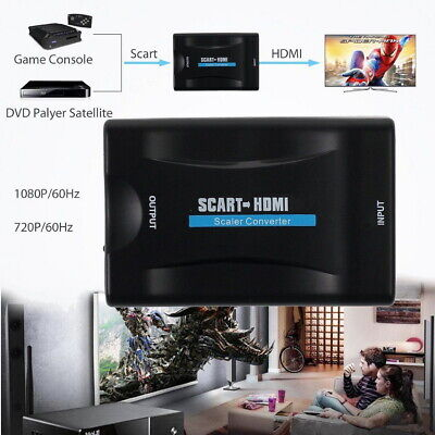 Scart To HDMI MHL Converter Audio Video Adapter For 1080P HDTV Sky Box STB UK