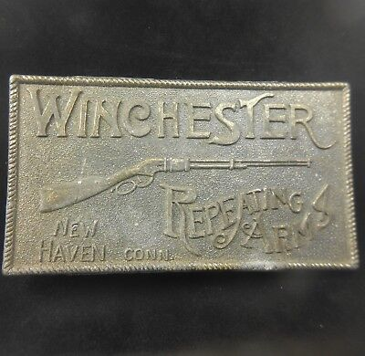 Vintage 1970s Winchester Repeating Arms Belt Buckle Gun & Firearm New Haven, CT