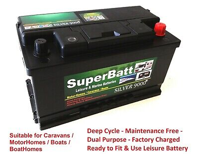 Deep Cycle Leisure Battery 12V 100AH SB S100 Caravan Motorhome Marine Boat