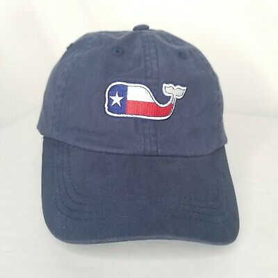 ccfc901d Vineyard Vines Hat Cap Adjustable Navy Blue Red White Whale Logo State Of  Texas