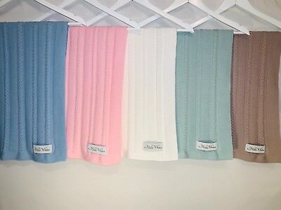 5 Colour Baby Kids Organic Cotton Knitted Blanket Cover , Comfy Blankets Choose