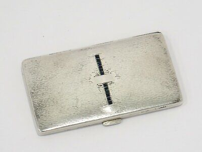3.25 in - European Silver Antique German Natural Sapphires Cigarette Case