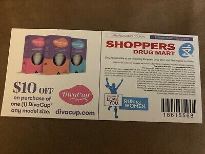 Coupon -$10 Off One Divacup menstrual cup (any model size) at Shoppers Drug Mar