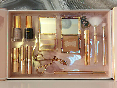 """TED BAKER 2018 Large Make-Up/Cosmetics Gift Set """"Stately Collection"""" ROSE GOLD"""