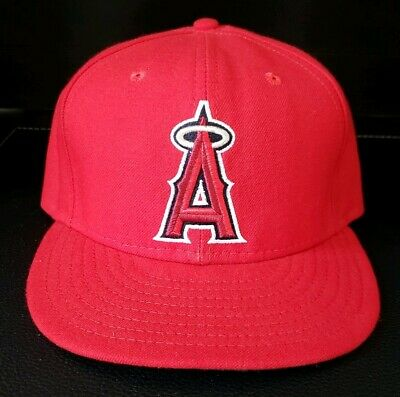 official photos 76352 7cceb Los Angeles Angels MLB Baseball New Era 59Fifty 7 3 8 Fitted Hat Cap Anaheim