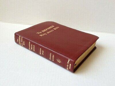 The Defined King James Bible, Burgundy Leather, Full Size