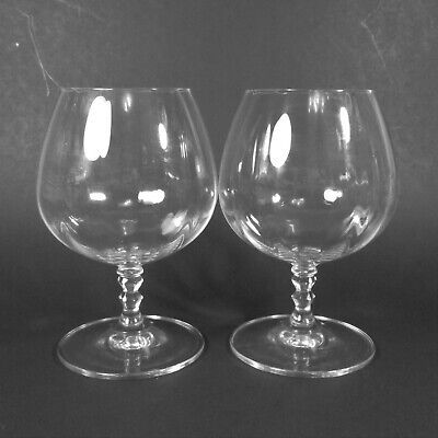 Mikasa SONNET Brandy Glasses Snifters Set of 2 Clear Optic Glass Snifter