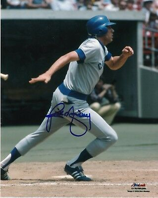 Rick Monday Chicago Cubs Action Autografata