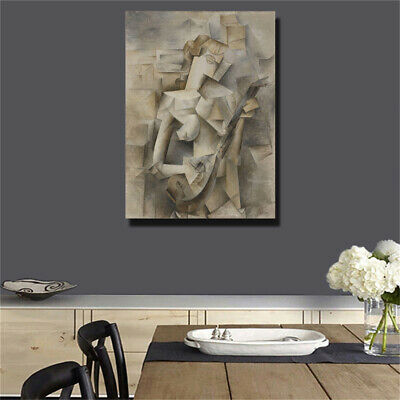 """Pablo Picasso""""Girl with Mandolin"""" HD print on canvas huge wall picture (31x39)"""