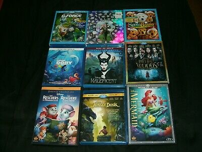 Large Disney Bluray And DVD Movie Lot of Titles: Finding Dory, G-Force, Others