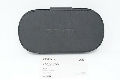 Official Sony PS Vita Black Leather Case Protective Travel Carrier PlayStation