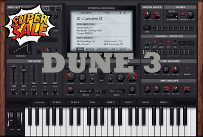 DUNE 3 Vst Plug-In 🔥 For Windows ✔️ Instant Email Delivery 30s 📥