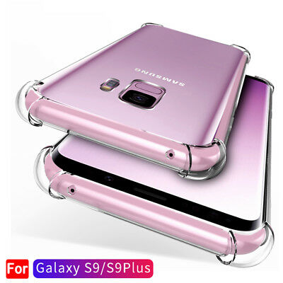 For Samsung Galaxy S10 S9 S8Plus Note 9 A8 Clear Shockproof Bumper Case Cover Bu