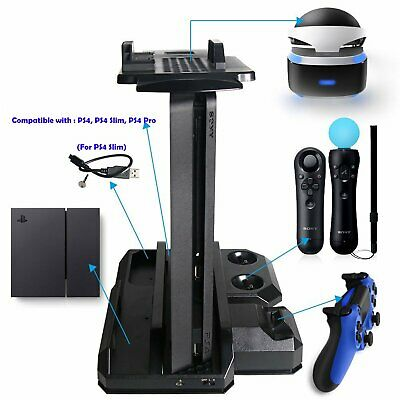 Multi-functional PS Showcase Charge Stand for PS4 & PS4 Slim & PS4 Pro & PS VR