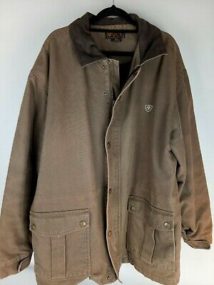 Ariat Size 2XL Caramel Brown Quilted Warm Jacket 100% Cotton
