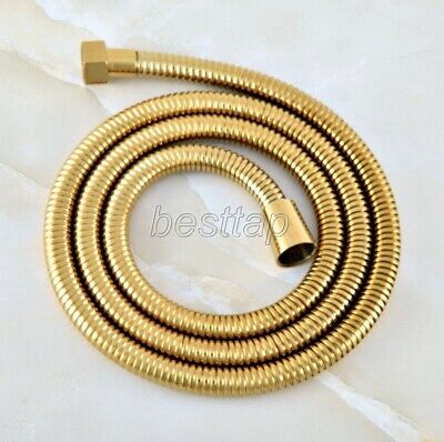 """59"""" (1500mm) Gold Color Brass Extra Long Handheld Shower Head Pipe Hose shh047"""