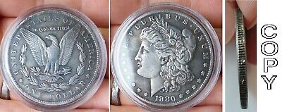 COPIE - One Morgan Dollar 1880 (Plaquée Argent) / SILVER PLATED Coin
