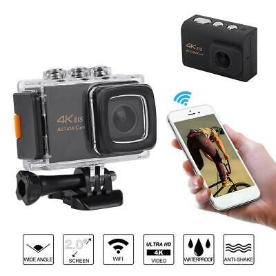 Action Camera Sport Camcorder Waterproof DVR 1080P/4K WiFi with Remote Control
