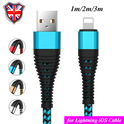 UK Fast Charging Cable Charger Lead For Apple iPhone X,8,7,7Plus,6,6Plus,5,5c,5s