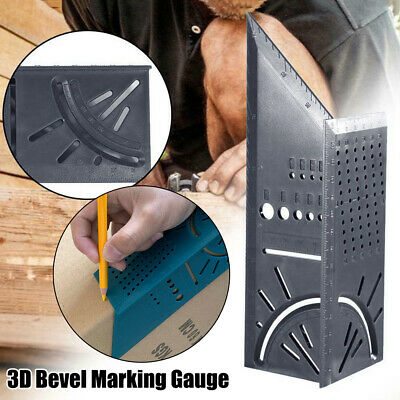 3D Mitre Bevel Angle Square Woodworking Measuring Tool With Gauge And Ruler