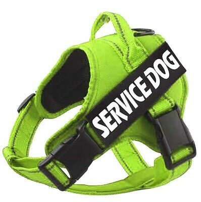 Reflective Service Dog Harness Adjustable Training Vest Walking Strap & Patches
