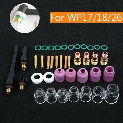 23pc TIG Welding Torch Parts Stubby Gas Lens Glass Back Cup for WP-17//18//26 D0W5