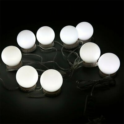 10LED Mirror Vanity LED Light Bulbs Kit USB Charging Port Cosmetic Lights^1r