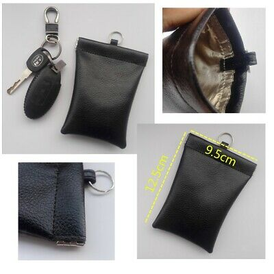 2x Cage Shield Car Key Fob Signal Blocking Pouch Bag Rfid Key Protector