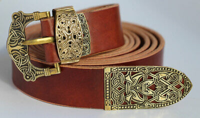 Viking Belt Norway ,Gokstad Ship burial wide and long belt veg tanned leather